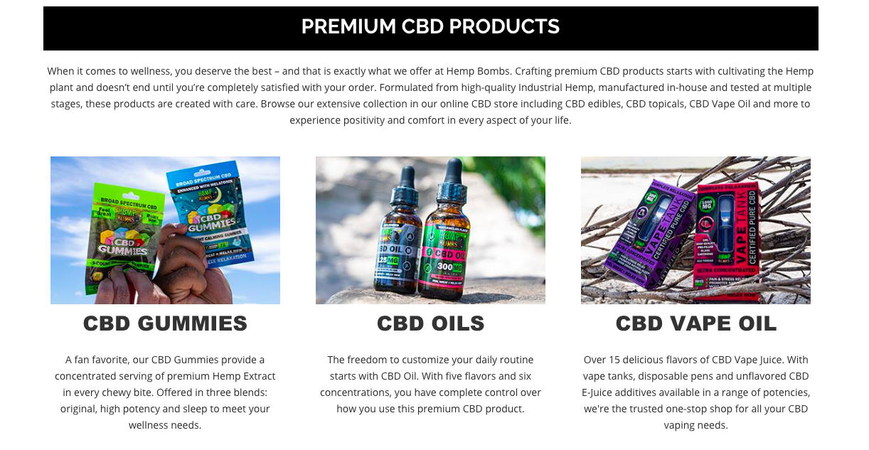 premium cbd Hemp Bombs