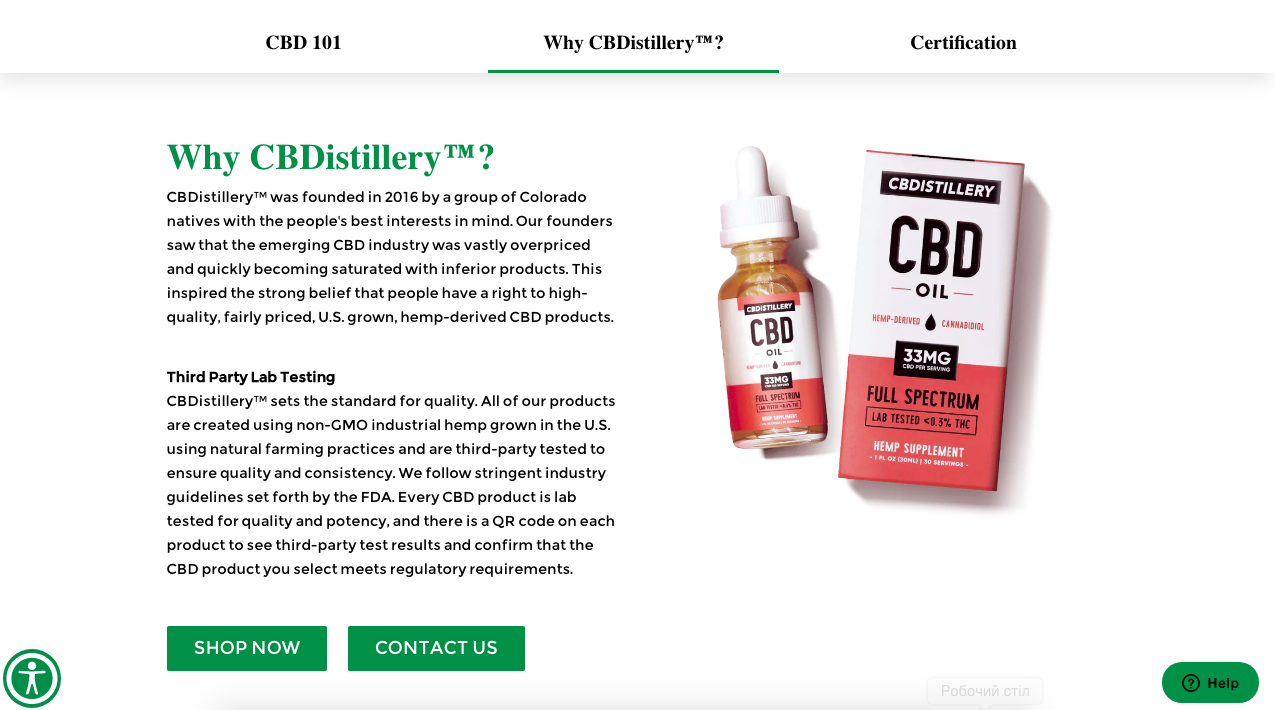 why cbd oil Cbdistillery.com
